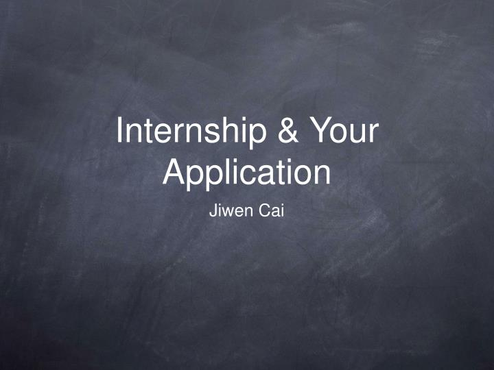 internship slidesshow Find internships and employment opportunities in the largest internship marketplace search paid internships and part time jobs to help start your career.