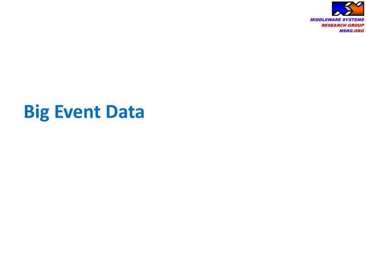 Big event data