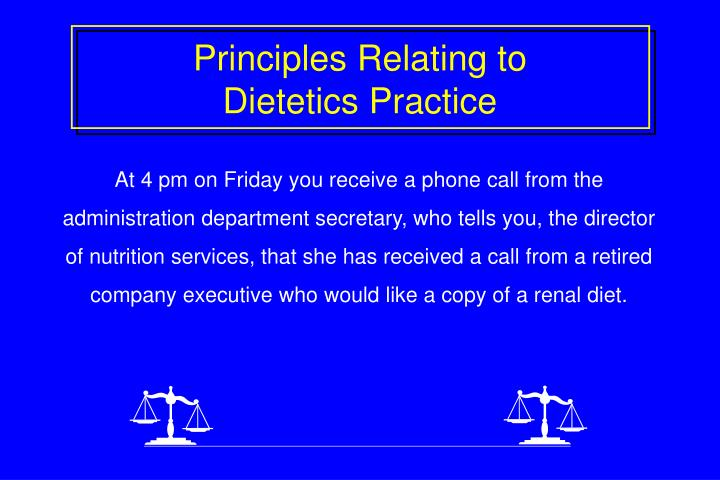 Principles Relating to