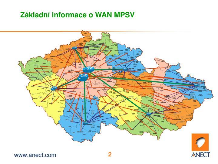 Z kladn informace o wan mpsv