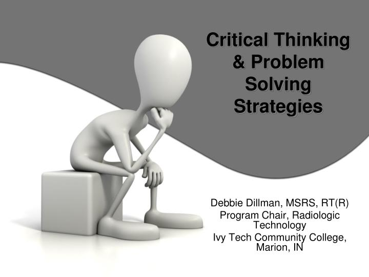 critical thinking problem solving strategies n.