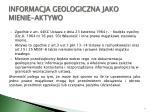informacja geologiczna jako mienie aktywo