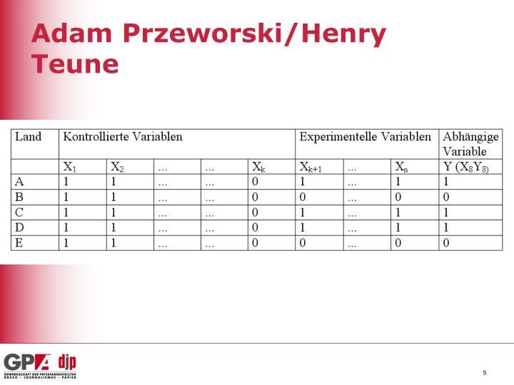 Adam Przeworski/Henry Teune