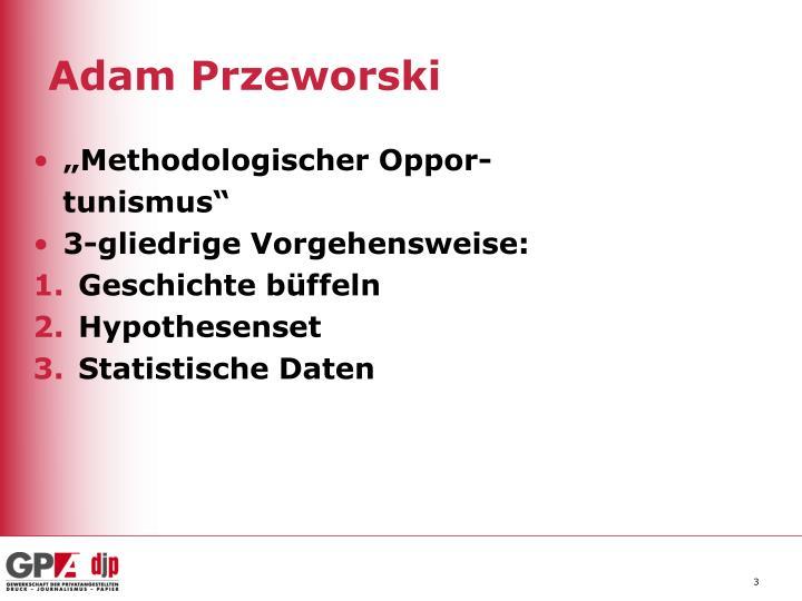 Adam przeworski1