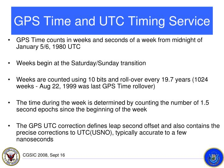GPS Time and UTC Timing Service
