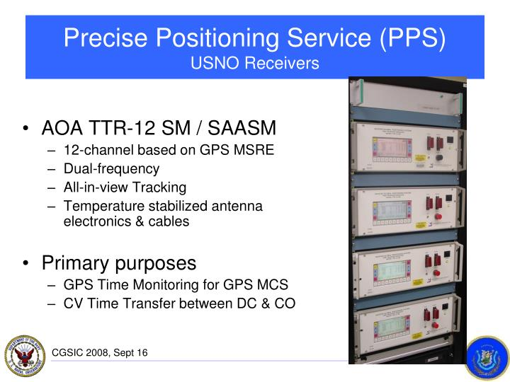 Precise Positioning Service (PPS)