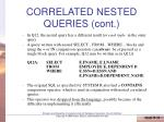 correlated nested queries cont