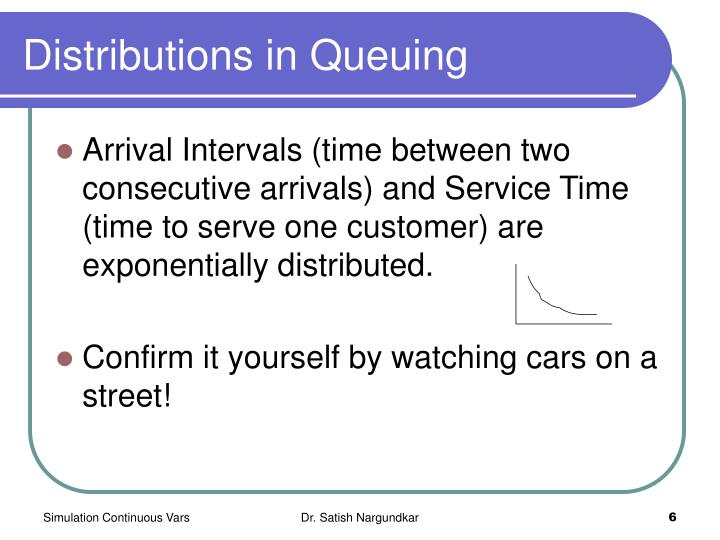 Distributions in Queuing