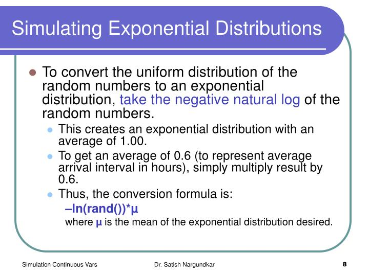 Simulating Exponential Distributions