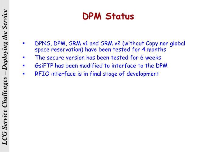 DPM Status