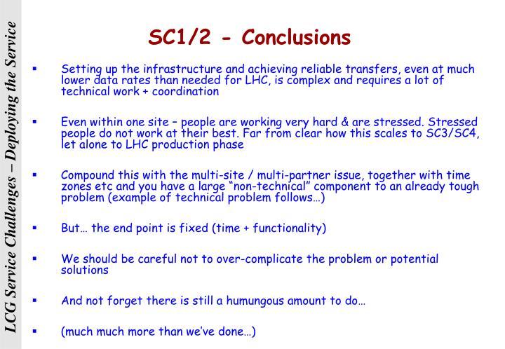 SC1/2 - Conclusions