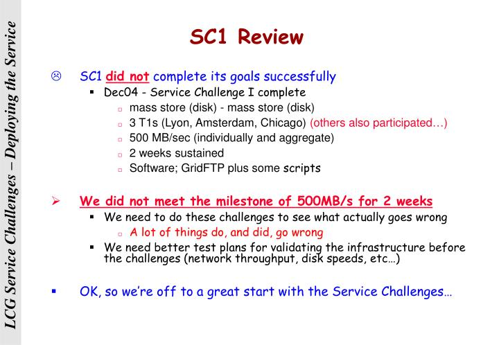 SC1 Review