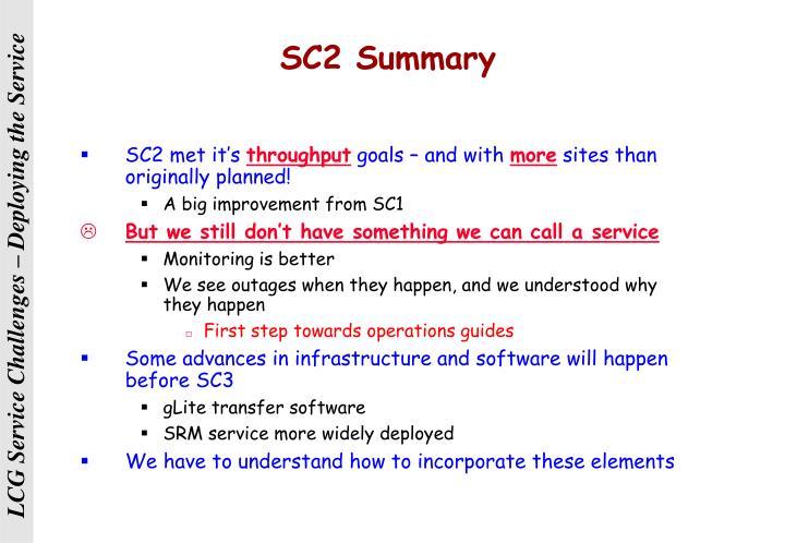SC2 Summary