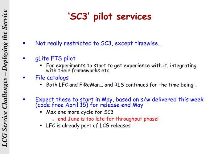 'SC3' pilot services