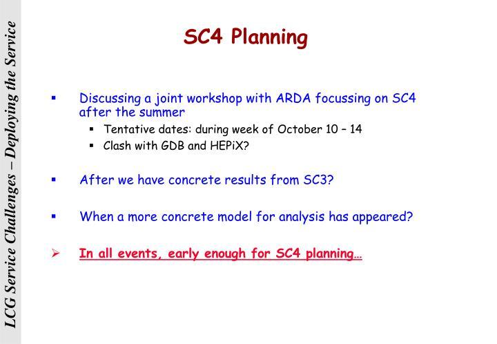 SC4 Planning