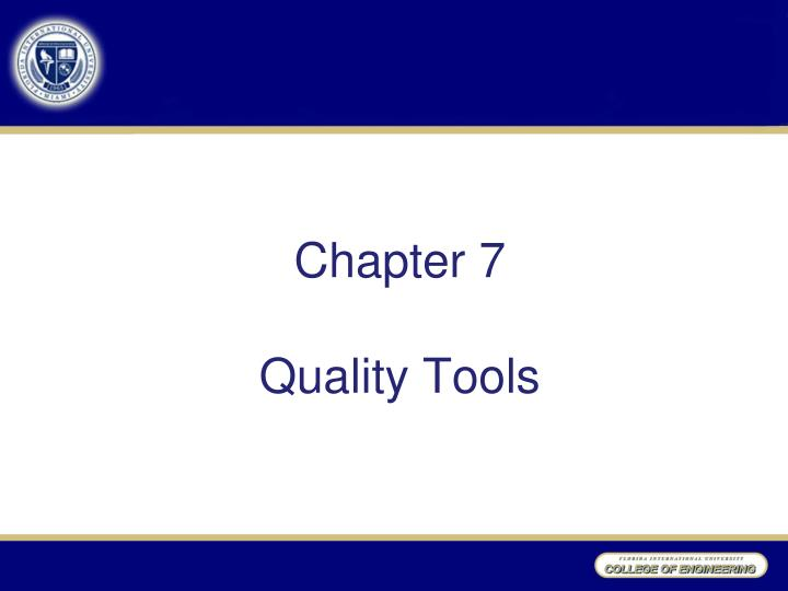 chapter 7 quality tools n.