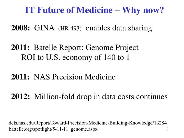 It future of medicine why now