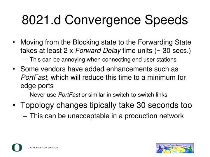 8021.d Convergence Speeds