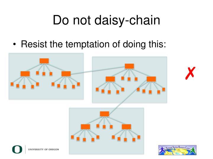 Do not daisy-chain