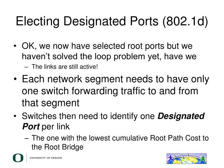 Electing Designated Ports (802.1d)