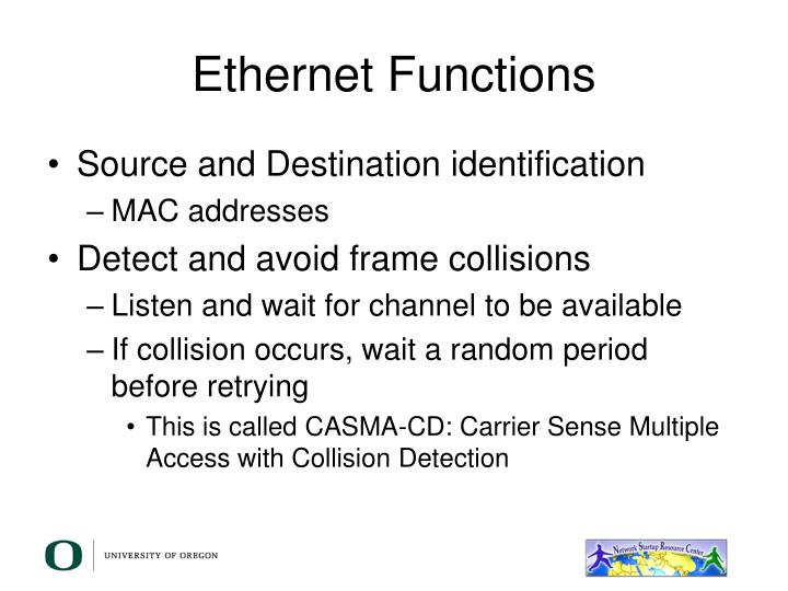 Ethernet Functions