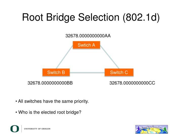 Root Bridge Selection (802.1d)