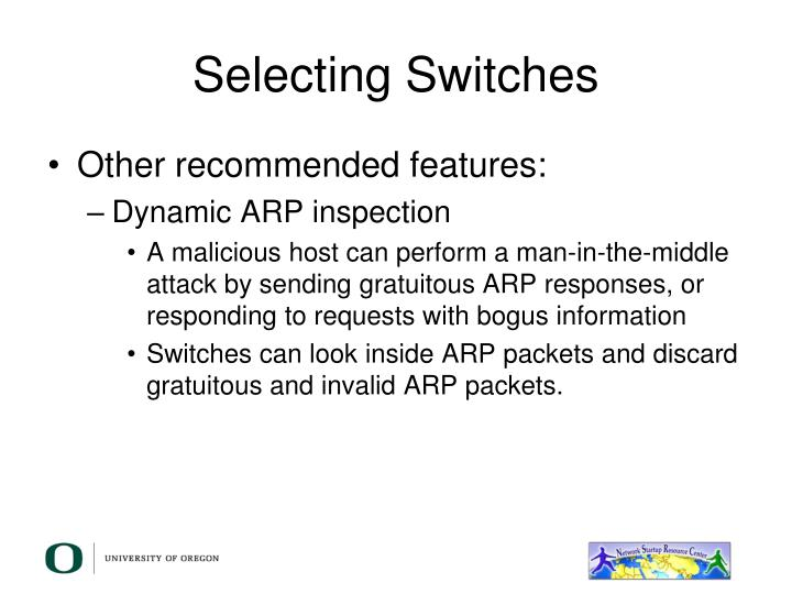 Selecting Switches