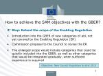 how to achieve the sam objectives with the gber1