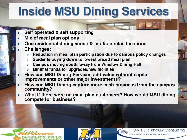 Inside MSU Dining Services