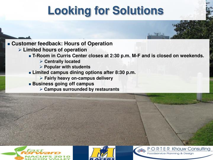 Looking for Solutions