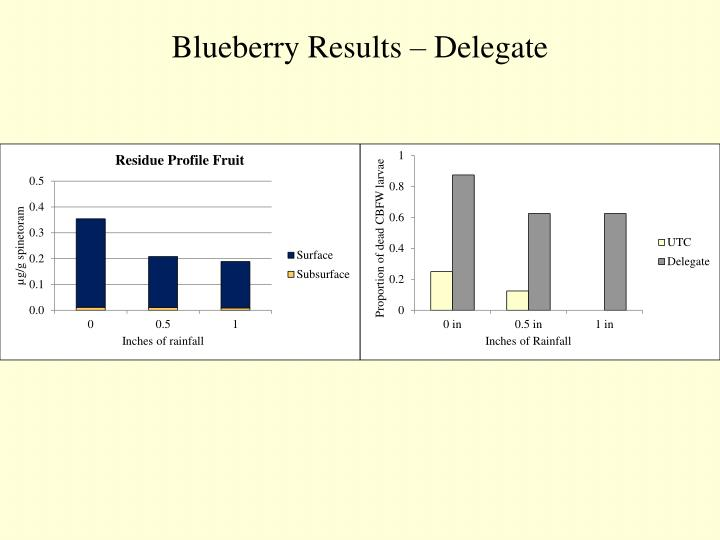 Blueberry Results – Delegate