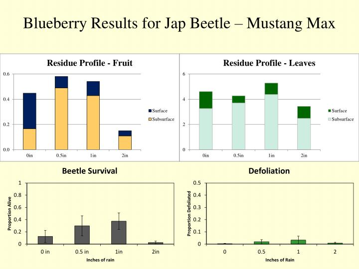 Blueberry Results for Jap Beetle – Mustang Max