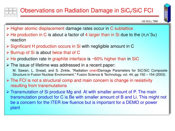 Observations on Radiation Damage in SiC