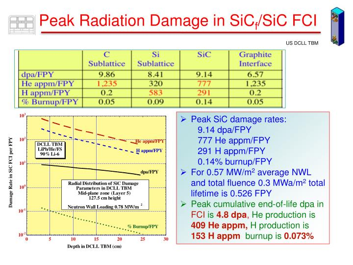 Peak Radiation Damage in SiC