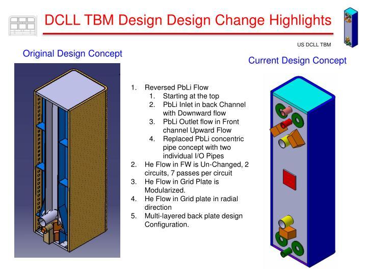 DCLL TBM Design Design Change Highlights