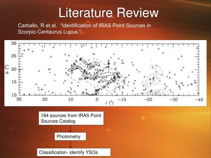 """Carballo, R et al.  """"Identification of IRAS Point Sources in Scorpio-Centaurus Lupus."""""""