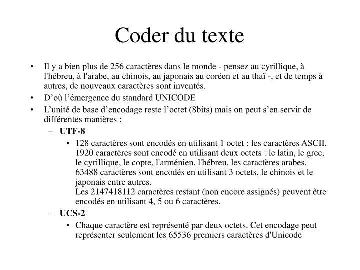 Coder du texte1