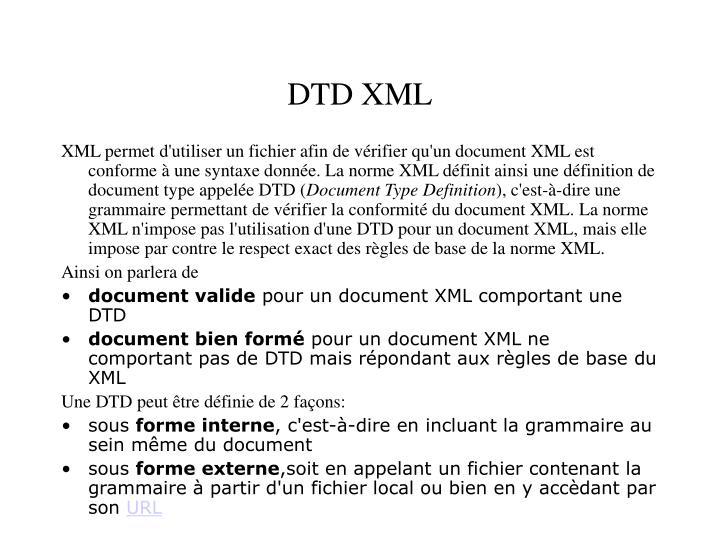 DTD XML
