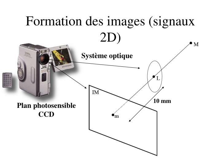 Formation des images (signaux 2D)