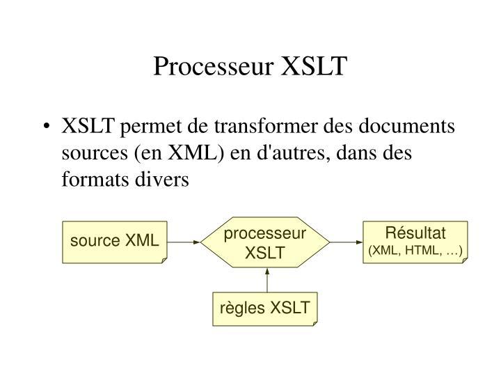 Processeur XSLT