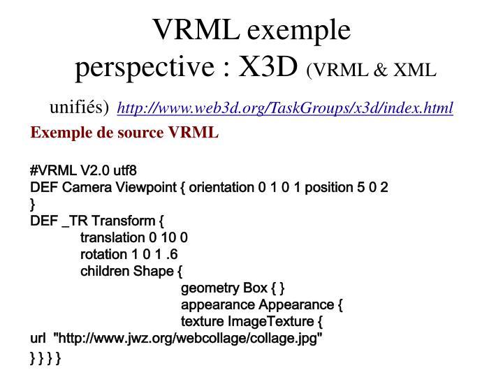 VRML exemple