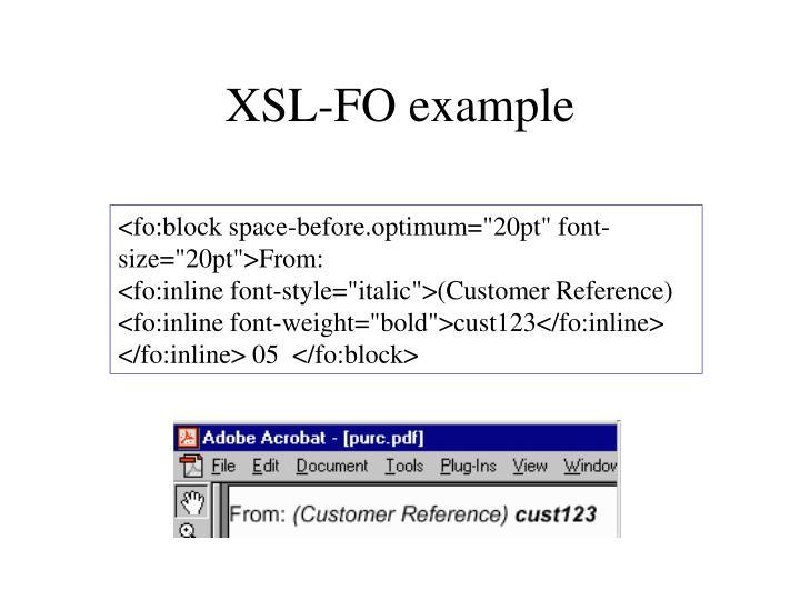 XSL-FO example