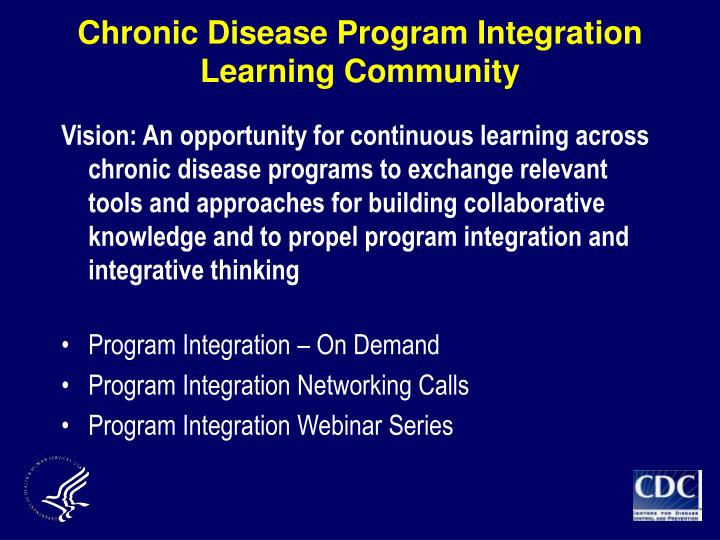 Chronic Disease Program Integration Learning Community