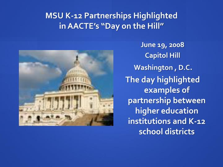 MSU K-12 Partnerships Highlighted