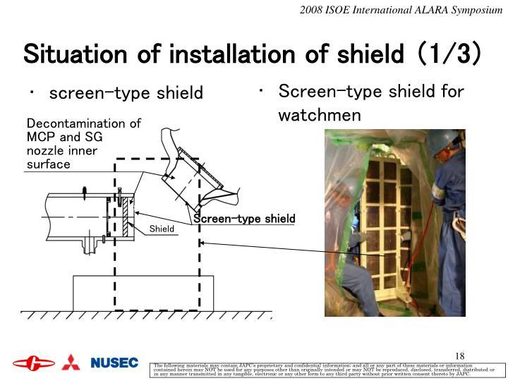 screen-type shield