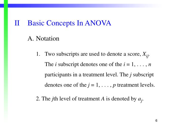IIBasic Concepts In ANOVA