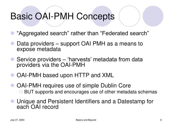 Basic OAI-PMH Concepts