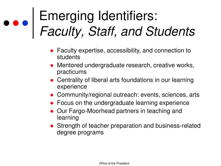 Emerging Identifiers: