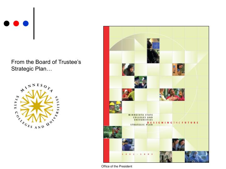From the Board of Trustee's