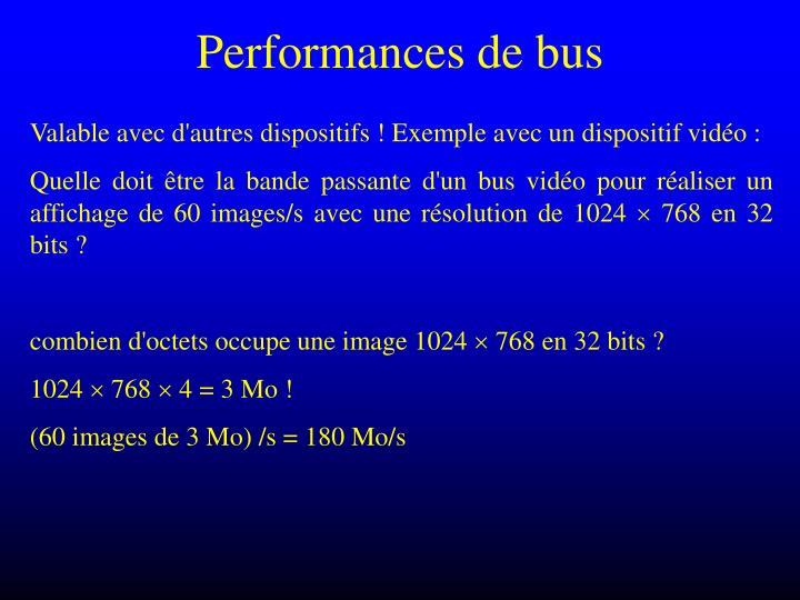 Performances de bus